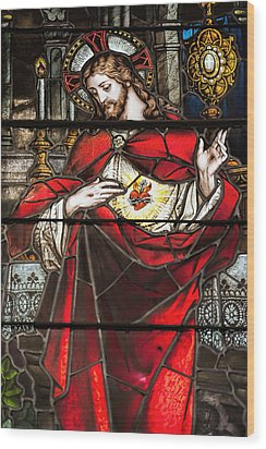 Sacred Heart Of Jesus Wood Print