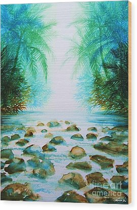 Sacred Pools Wood Print