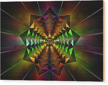 Wood Print featuring the drawing Sacred Power Of Nine by Derek Gedney