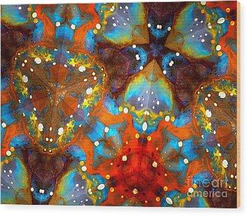 Sacred Rays Wood Print