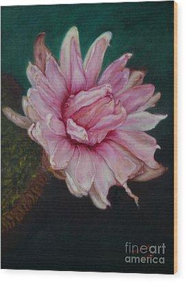 Wood Print featuring the painting Sacred Red Lotus by Mukta Gupta