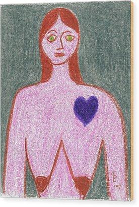 Sad Wood Print by Anita Dale Livaditis