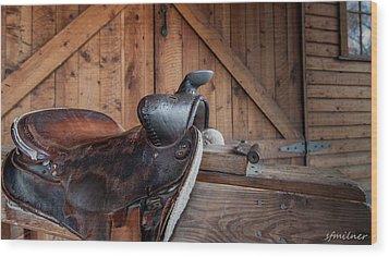 Saddle Rest Wood Print by Steven Milner