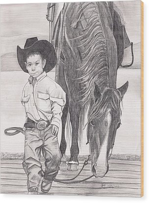 Saddle Up Partner Wood Print by Beverly Marshall