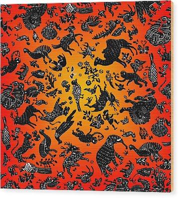 Safari Pattern 3 Wood Print by John Keaton