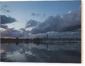 Safe Harbor After The Storm Wood Print by Georgia Mizuleva