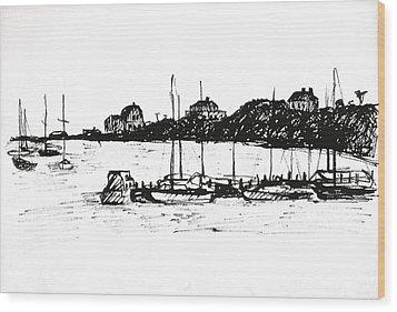 Safe Harbor Wood Print by Deborah Dendler