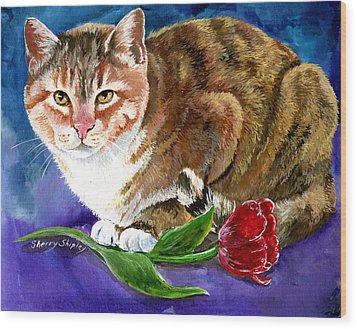 Saffron Wood Print by Sherry Shipley