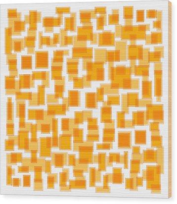 Saffron Yellow Abstract Wood Print by Frank Tschakert