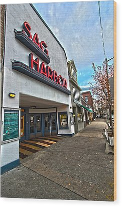 Sag Harbor Theater Wood Print
