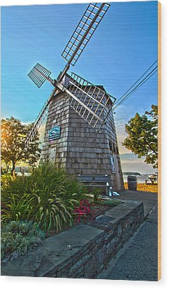 Sag Harbor Windmill Wood Print