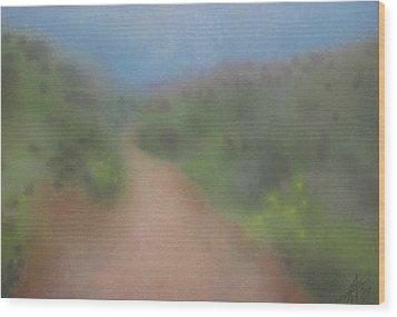 Sagebrush And Coastal Fog Wood Print by Robin Street-Morris