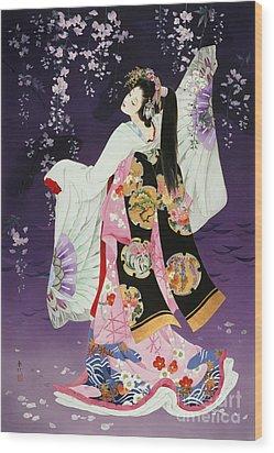 Sagi No Mai Wood Print by Haruyo Morita