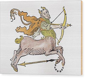 Sagittarius An Illustration Wood Print by Italian School