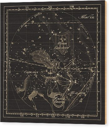 Sagittarius Constellations, 1829 Wood Print by Science Photo Library