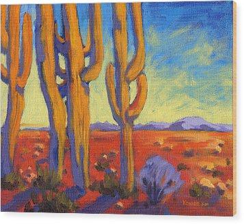 Saguaro 2 Wood Print