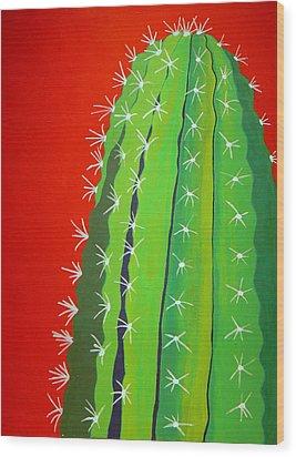 Saguaro Cactus Wood Print