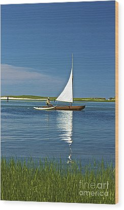 Sail Wood Print by Amazing Jules