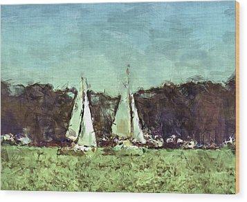 Sail Away Wood Print by Susan Leggett