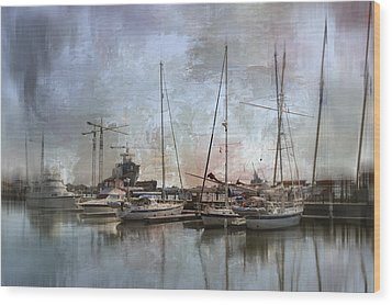 Sail Away With Me Wood Print by Kathy Jennings