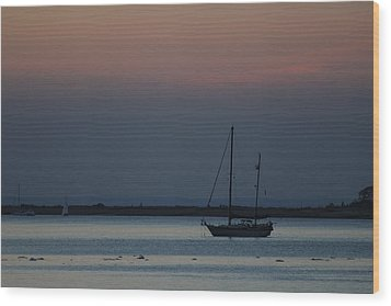 Sail Boat Port Jefferson New York Wood Print