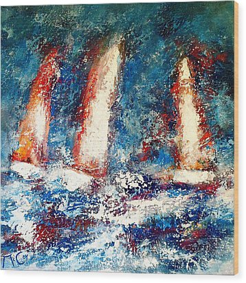 Sail On Wood Print