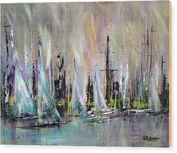 Sail Wood Print by Roberta Rotunda