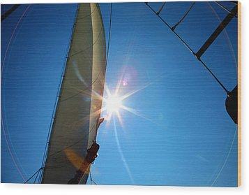 Sail Shine By Jan Marvin Studios Wood Print