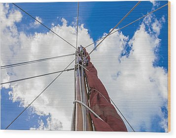 Wood Print featuring the photograph Sailboat Mast 1 by Leigh Anne Meeks
