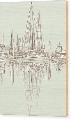 Wood Print featuring the photograph Sailboat On Liberty Bay by Greg Reed