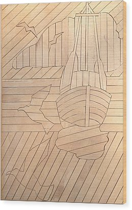 Sailboat Wood Print by Stan Tenney