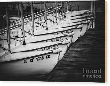 Sailboats In Newport Beach California Picture Wood Print by Paul Velgos