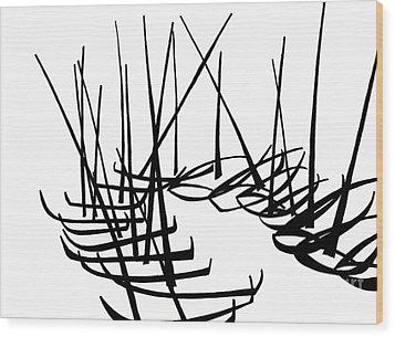 Sailboats Waiting On Shore Wood Print by Menno Bos