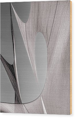 Sailcloth Abstract Number 2 Wood Print by Bob Orsillo