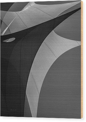 Wood Print featuring the photograph Sailcloth Abstract Number Eight by Bob Orsillo