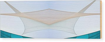 Sailcloth Abstract Times Two Wood Print by Bob Orsillo