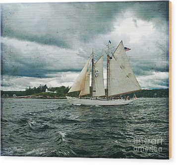 Sailing Away  Wood Print by Alana Ranney