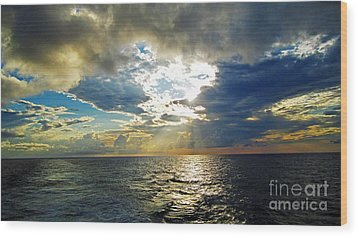 Sailing By Heaven's Door Wood Print by Alison Tomich