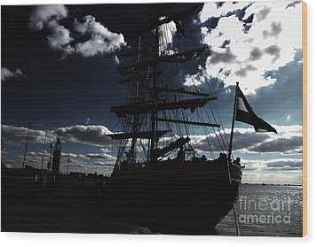 Sailing By Night Wood Print by Four Hands Art