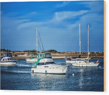 Sailing Wood Print by Camille Lopez