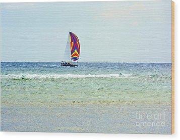 Sailing Day Wood Print by Darla Wood