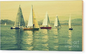 Wood Print featuring the photograph Sailing Day Regatta 2 by Julie Lueders
