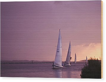 Sailing From The Sun Wood Print by Kelly Reber