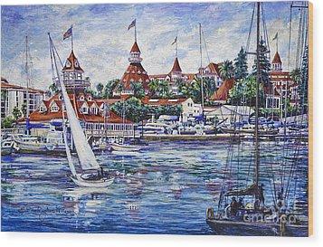 Sailing Glorietta Bay Wood Print