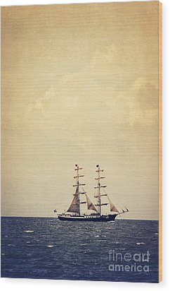 Sailing II Wood Print by Angela Doelling AD DESIGN Photo and PhotoArt