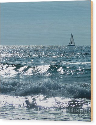 Sailing Wood Print by Mike Ste Marie