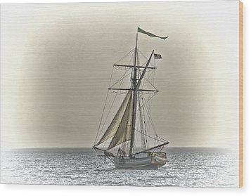 Sailing Off Wood Print