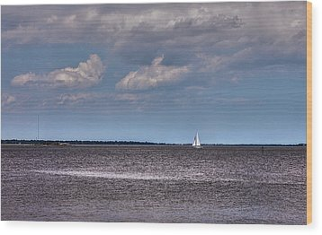 Wood Print featuring the photograph Sailing by Sennie Pierson