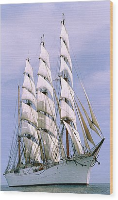 Sailing Ship Wood Print by Anonymous