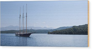 Sailing Ship In The Adriatic Islands Wood Print